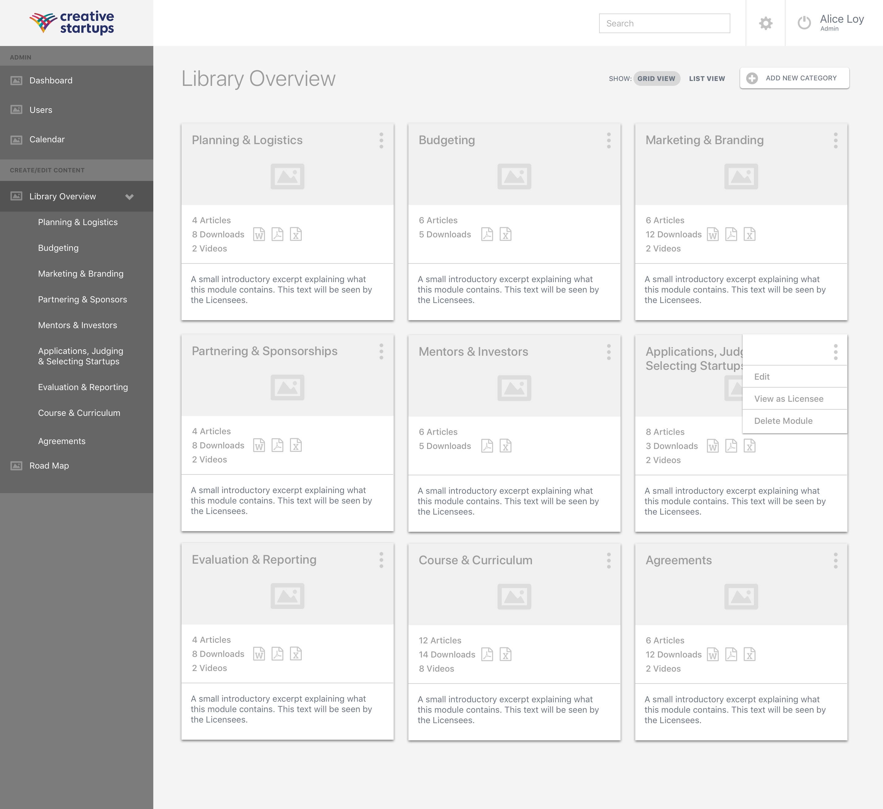0.4 CS Master Admin - Library Overview